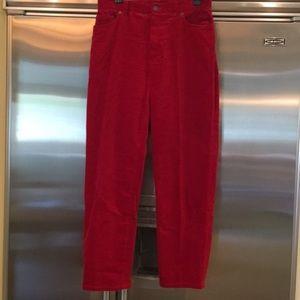 LAUREN JEANS CO. GORGEOUS RED PANTS.